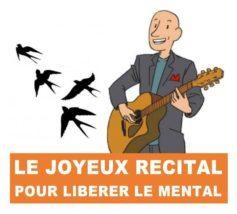 Thierry Claudon chante, accompagné de sa guitare